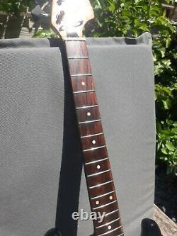 Vintage 1960/70s Teisco Satellite Short Scale Bass Guitar. Tobacco Burst
