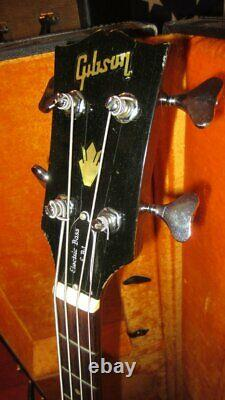 Vintage 1969 Gibson EB-1 Violin Bass Electric Bass with Original Case & Endpin