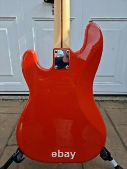 Vintage V4 Maple Board Reissued Bass Guitar Firenza Red