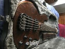 Wal 5 String Mk 2 Fretted Bass 1989 with Wal case, serial number W3304