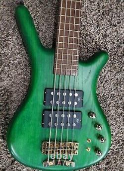 Warwick Corvette Double $$ Buck 5 String Green Bass Guitar German