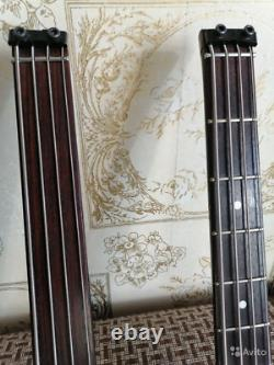 Washburn Bantam B-62 Double Neck Fretted & Fretless Headless Bass Vintage 1985