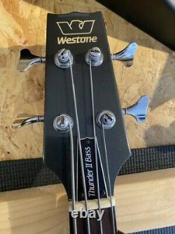 Westone Thunder II Bass Guitar. Vintage, rare, 1983, Japan, original hardcase